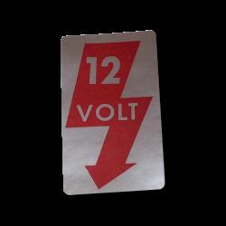 Aufkleber 12V, VW T1, VW T2, A-Säule, links, 111900257