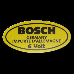 Aufkleber 6 Volt, VW T1, Karmann Ghia Zündspule, AC853951, BOSCH
