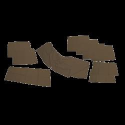 Fenstervorhang Set VW T2, braun, Westfalia, 231070402, 231070404, 231070406, 231070408, 231070410, 231070416B