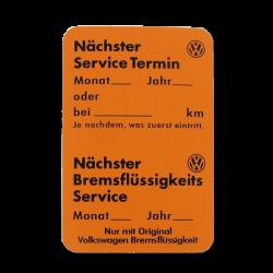Aufkleber Service Termin VW Käfer, VW T1, VW T2, VW Golf, VW Jetta, VW Caddy, ZCP902672