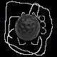 Schaltknauf Golfball schwarz, 113711141D