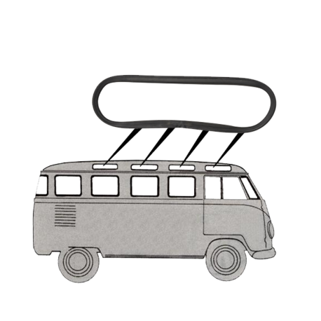 Scheibendichtung Dachscheibe VW T1, 241845621