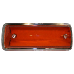Blinkerglas, orange / Chromrand, Bus T2, vorn links, 211953141J
