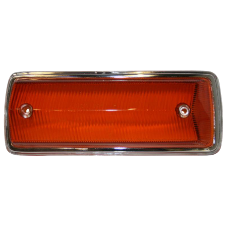 Blinkerglas, orange / Chromrand, VW T2, vorn rechts, 211953142J