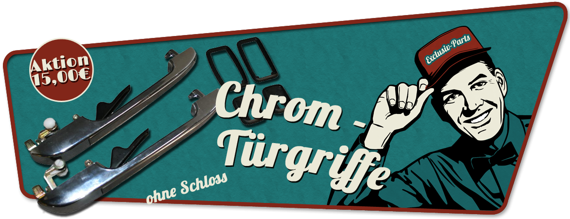 Chrom Tügriffe Golf 1, Caddy 1, Jetta, 193898205, 193898206